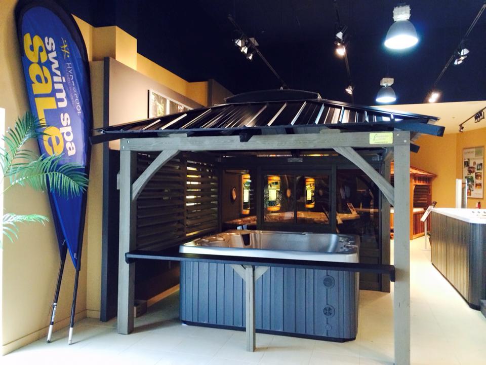 Gazebo Pic-Bois ouvert pour spa
