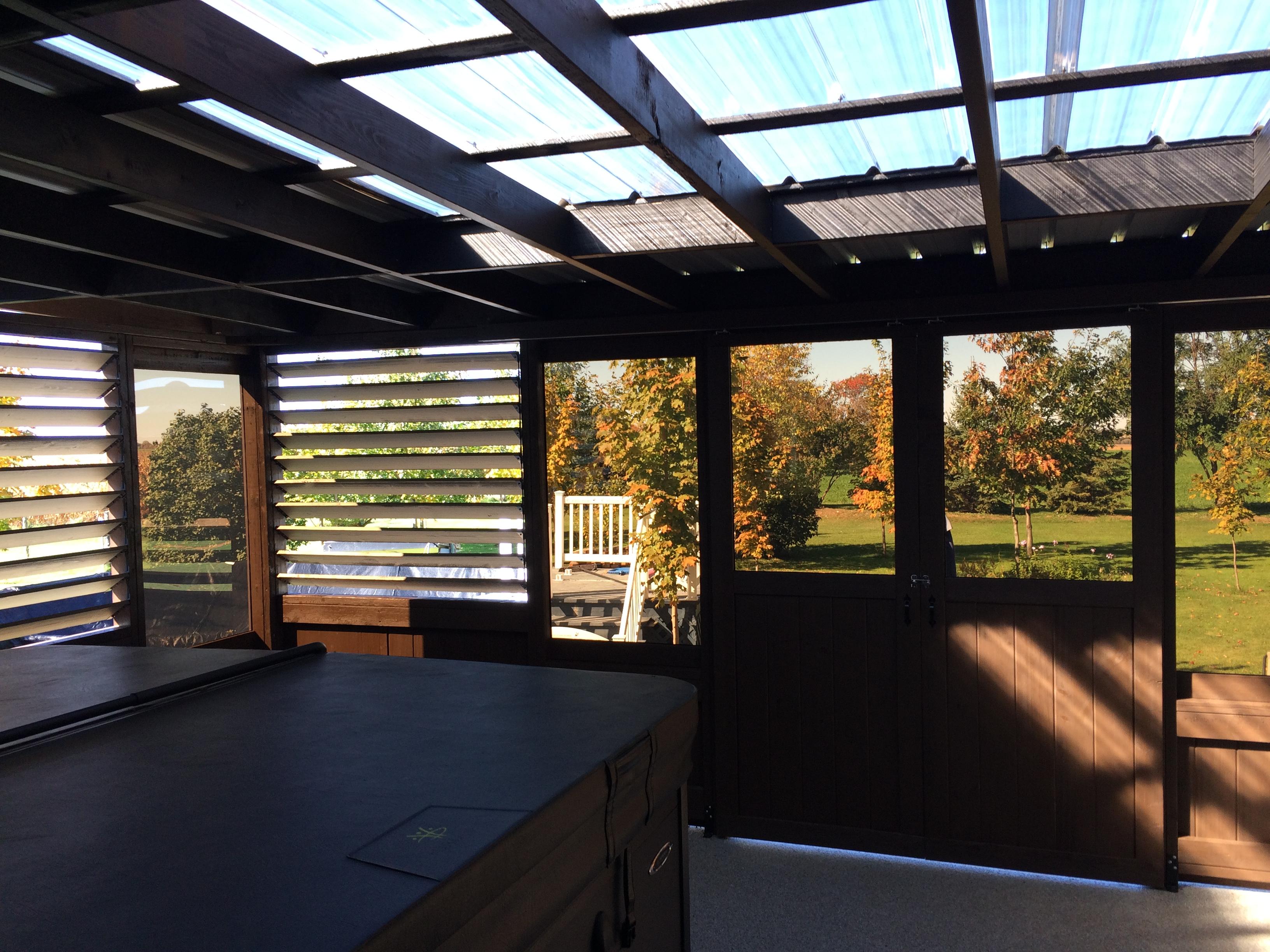 abri soleil un versant pour patio de Gazebo Pic-Bois