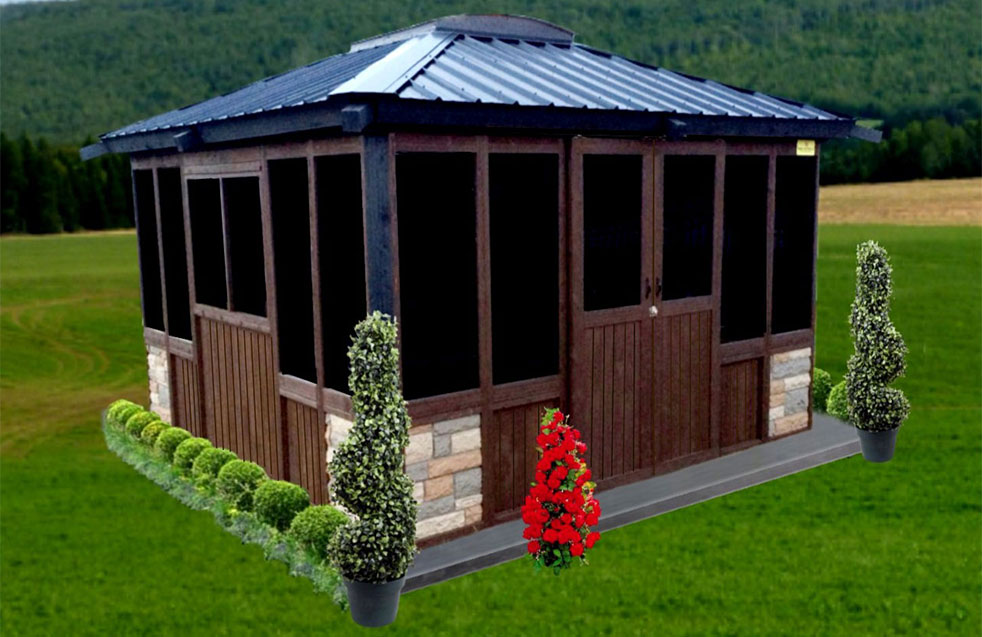 Closed gazebo 10 39 x 10 39 signature collection price from for Creative gazebos