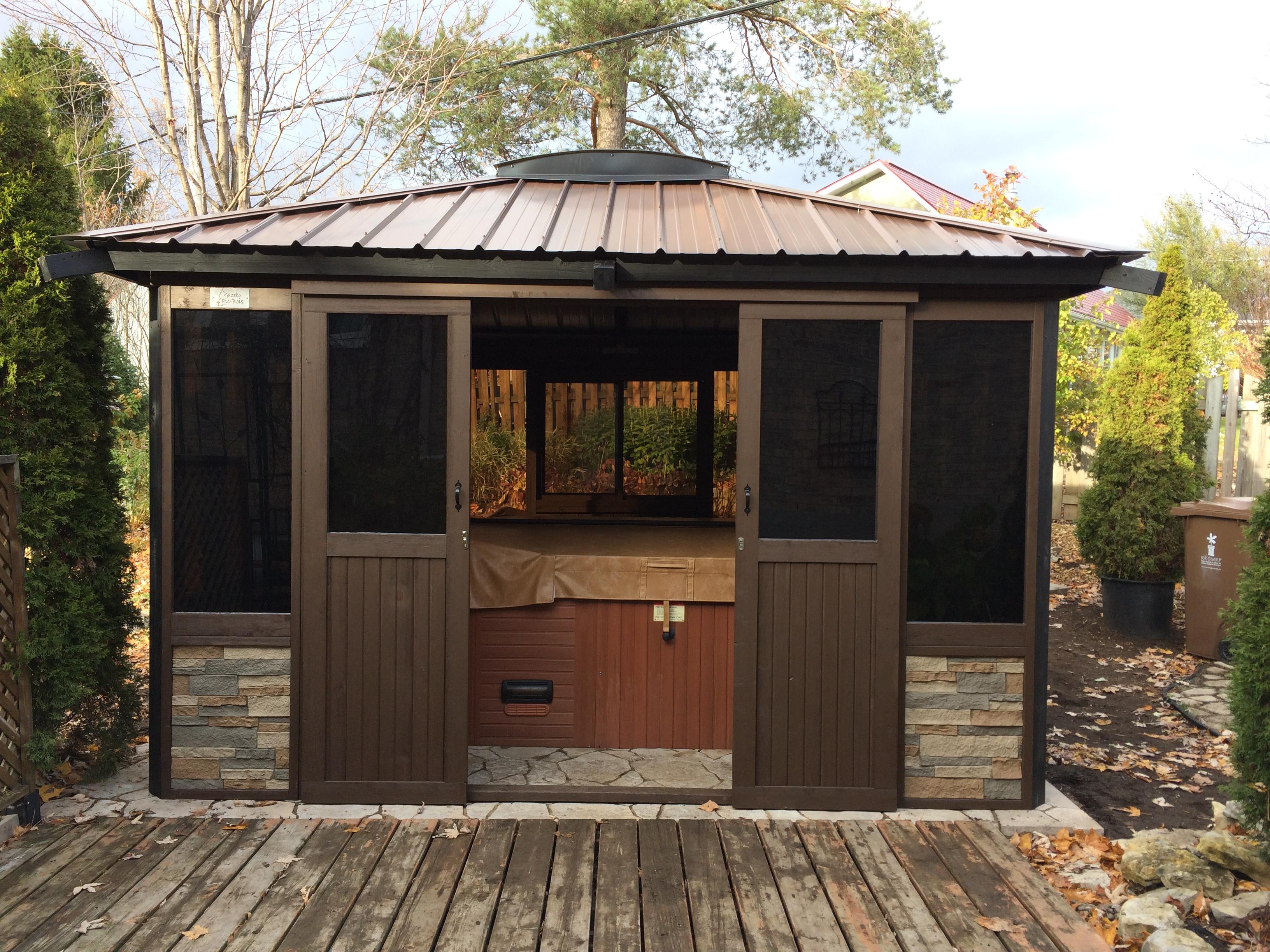 Fabriquer Une Tonnelle En Bois accueil gazebo abri soleil pergola terrasse - picbois - gazebo